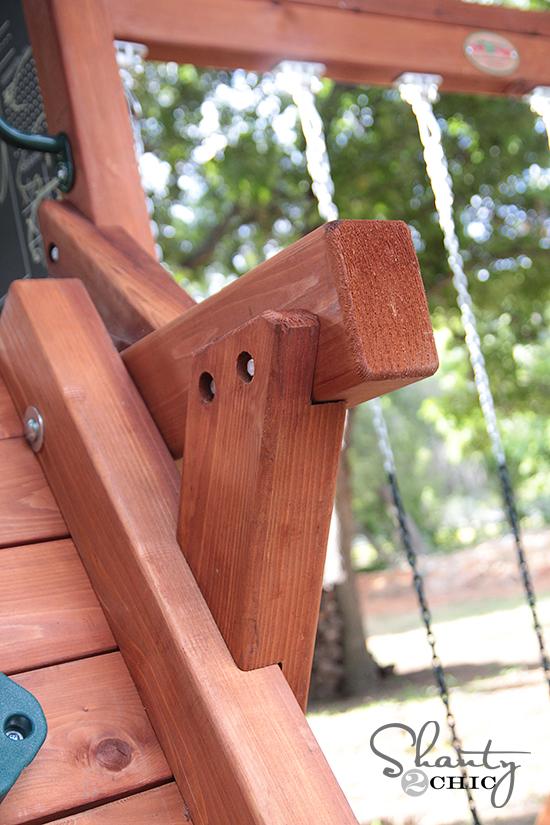 Wooden Swingset