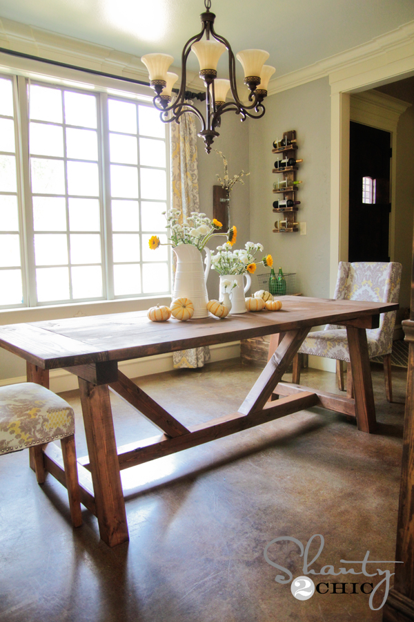 DIY Restoration Hardware Dining Table! - Shanty 2 Chic