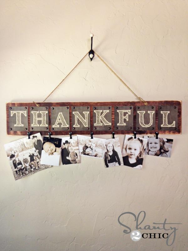 Free Printable Thankful Photo Board