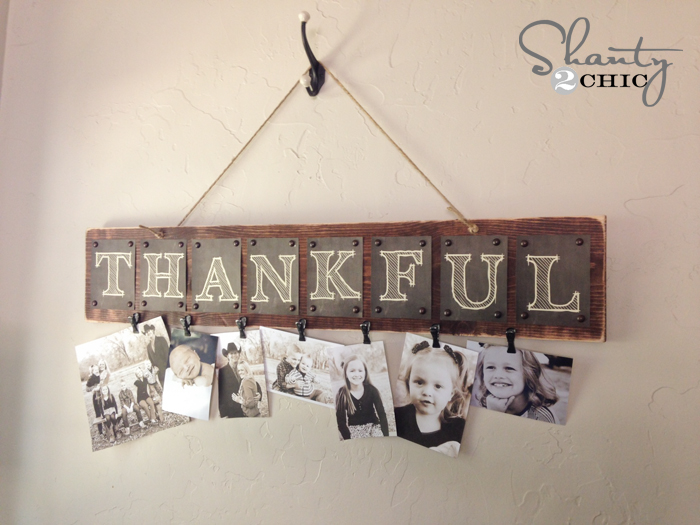 Photo Display with Free Printable Letters