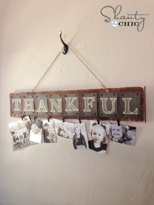 Thankful Free Printable Photo Board