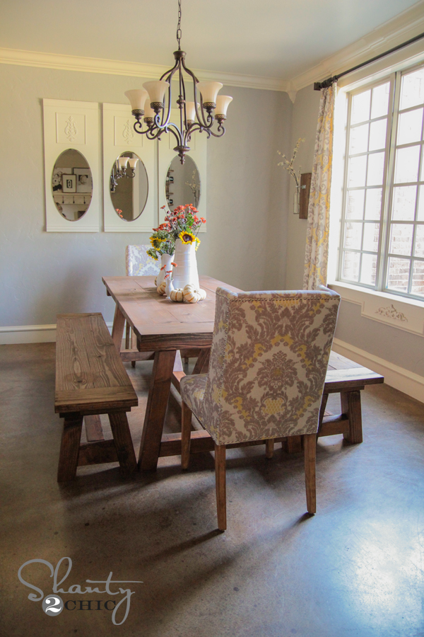 DIY Dining Table And Benches Bench