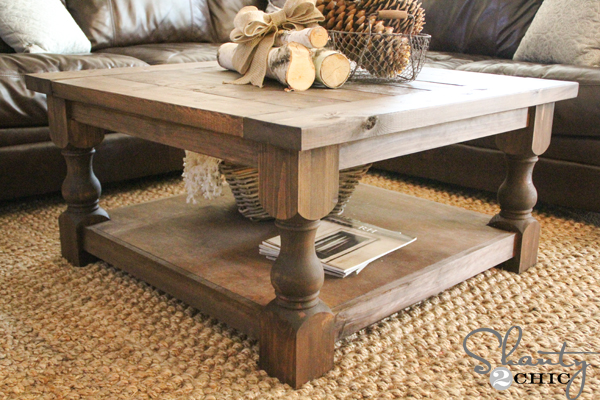 Diy Square Coffee Table Shanty 2 Chic