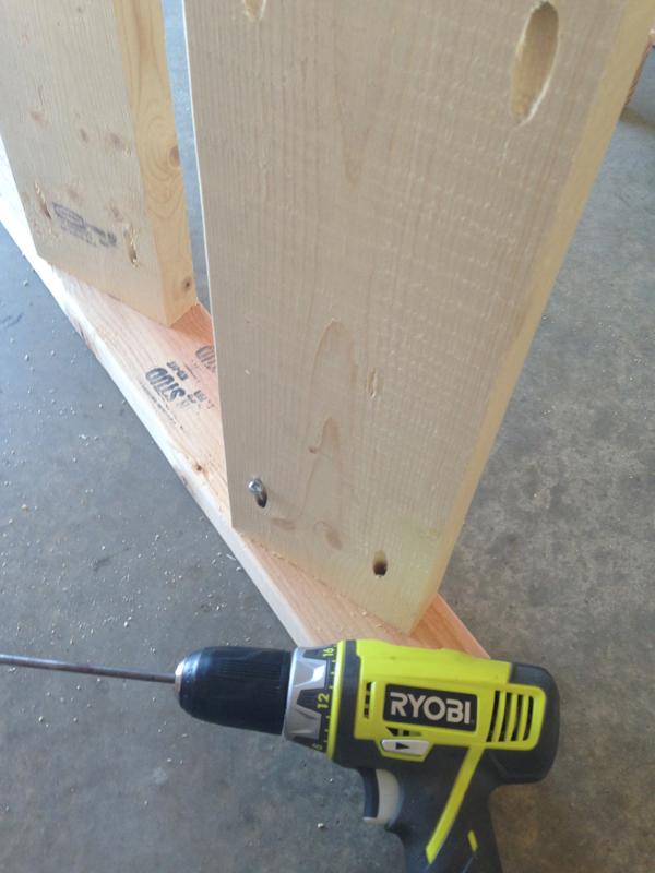 diy blanket ladder - attach-with-pocket-hole-screws
