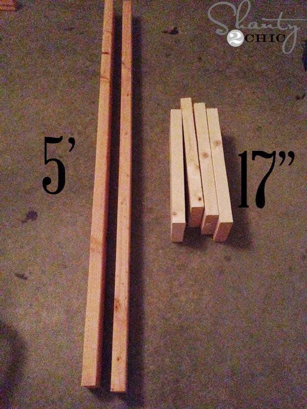 diy blanket ladder - measurements