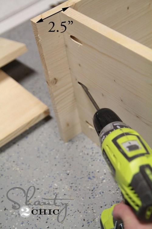Attach pocket hole screws