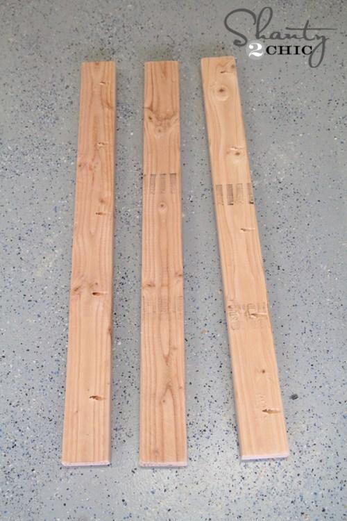 back wood for wine rack