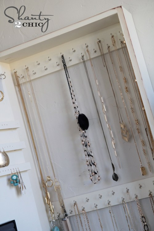necklace storage diy