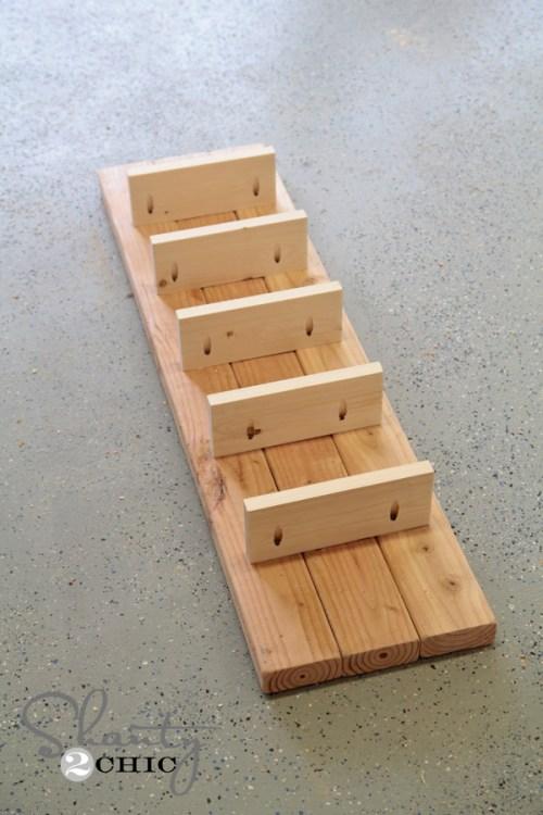 top of diy wine rack