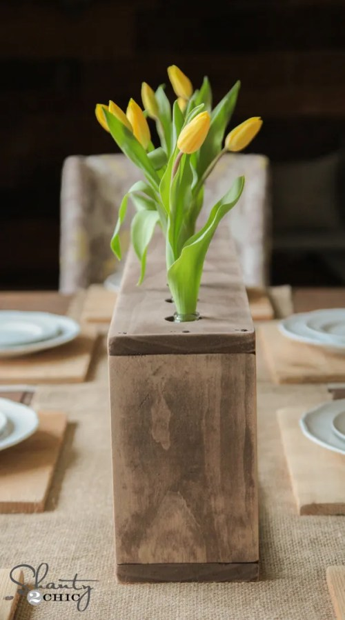 Wood Bottle Vase