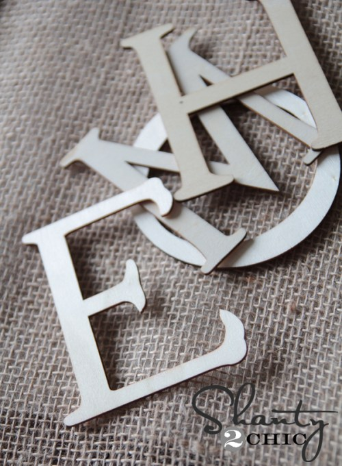 cheap wood letters