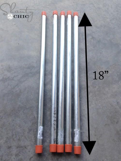 metal pipes for blanket ladder