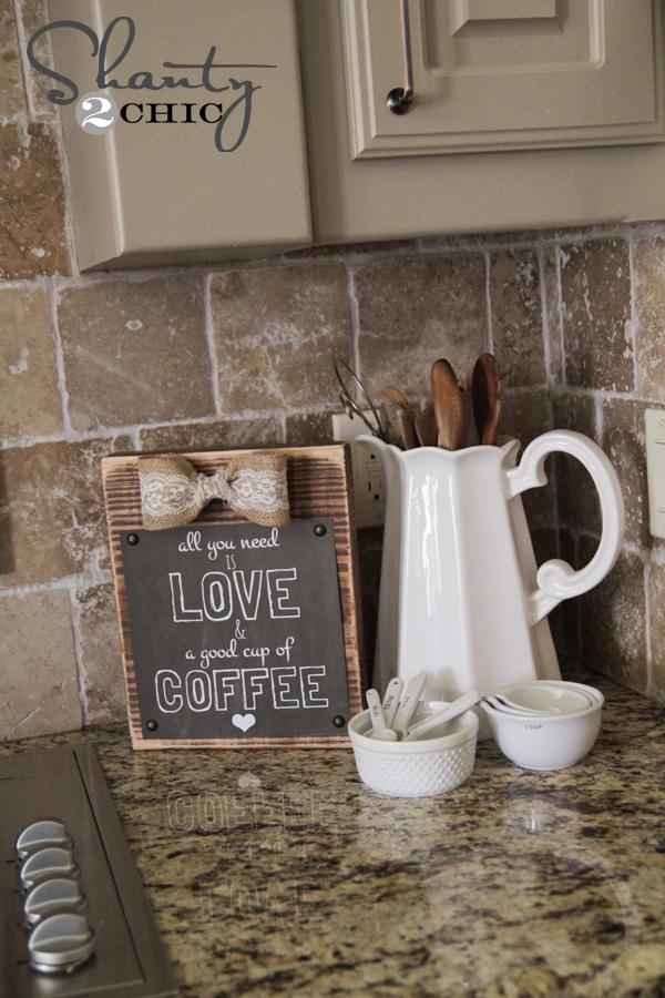 Diy Frame And Free Coffee Printable Shanty 2 Chic