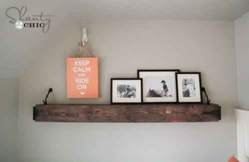 DIY Floating Hanging Shelf