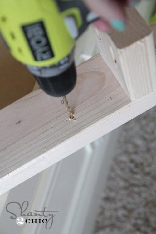 Pre-drill into wood