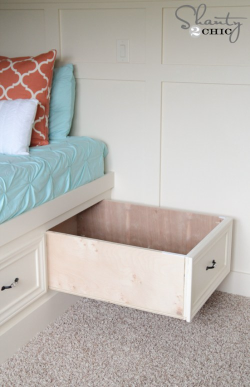 Storage Drawers under the bed DIY