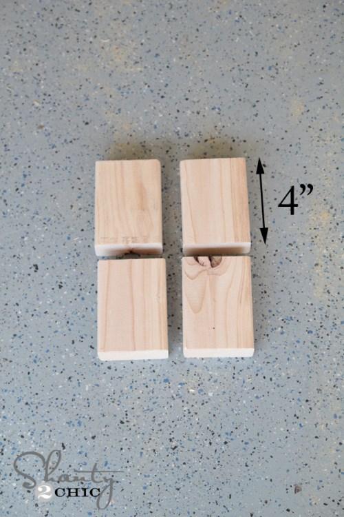 Wood for brackets on floating shelf