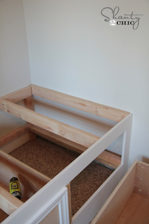 how to diy storage bed