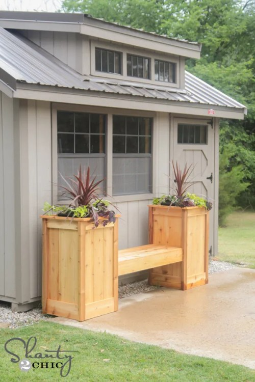 DIY Planter Box Bench
