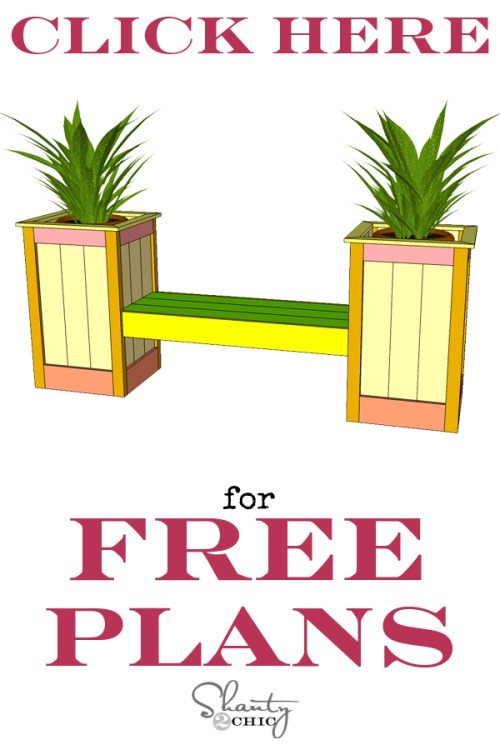 Free DIY Planter Box Bench Plans