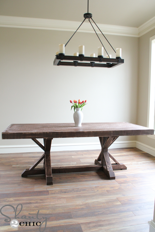 Restoration Hardware Inspired Dining Table for $110 - Shanty ...