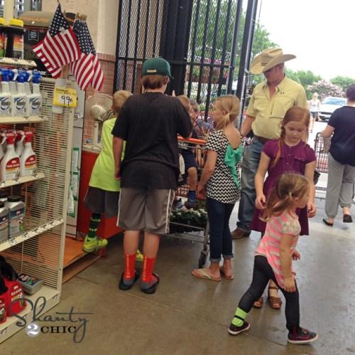 Shopping at Home Depot
