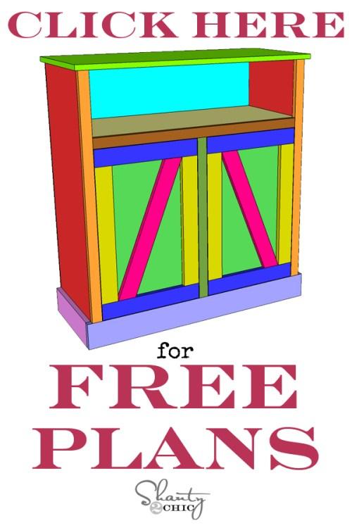 Barn Door Console Free Plans
