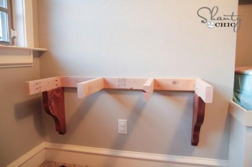 Build a corbel desk