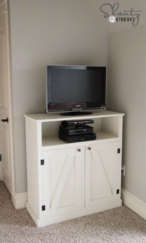 DIY Barn Door Media Console