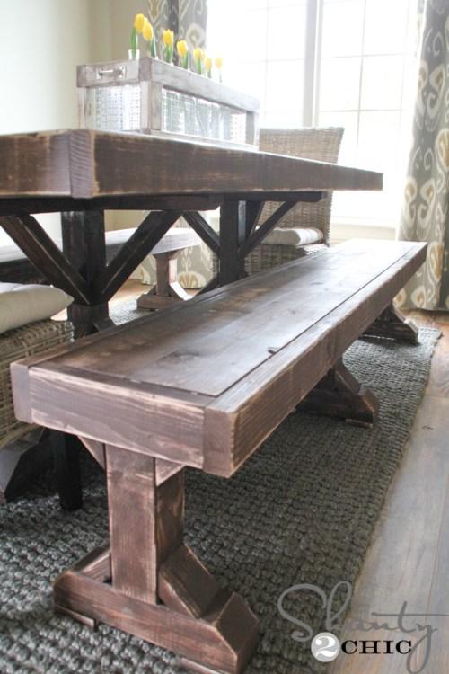 DIY Bench If You Missed The Restoration Hardware