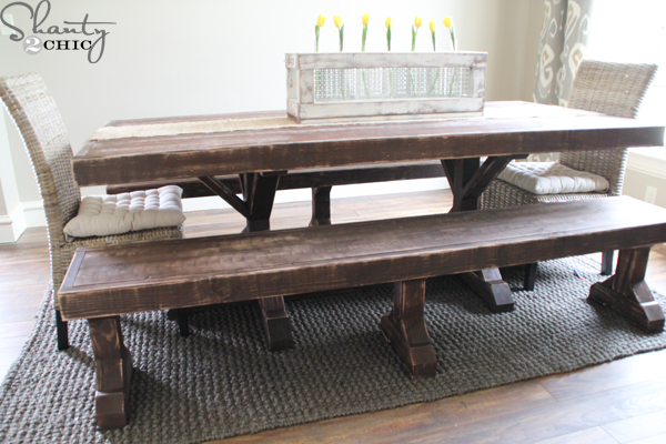 Fine Diy Benches For My Dining Table Shanty 2 Chic Pabps2019 Chair Design Images Pabps2019Com