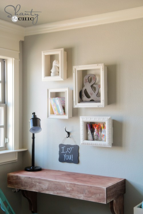 DIY Frame Box Shelves