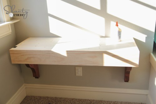 How to build a corbel desk