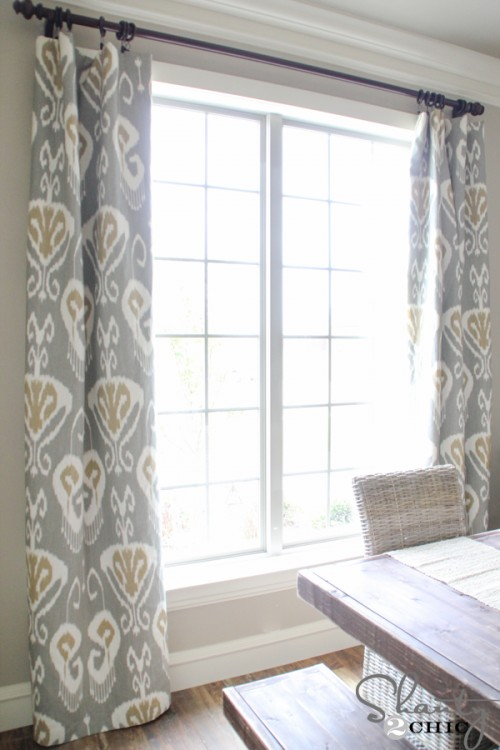 DIY Lined Window Panels - Shanty 2 Chic on Farmhouse:-Cra1Rtrksu= Dining Room Curtains  id=85243