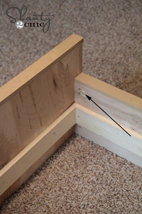 Assembling the dresser bed