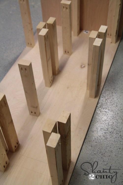 DIY Dresser with wood drawer slides