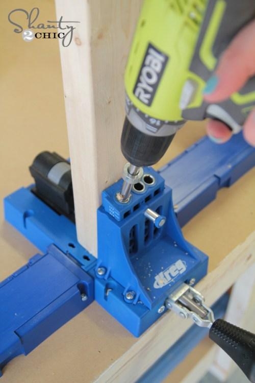 Pocket holes for Drawer slides