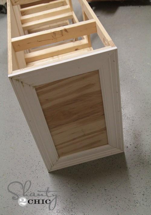 Side of dresser