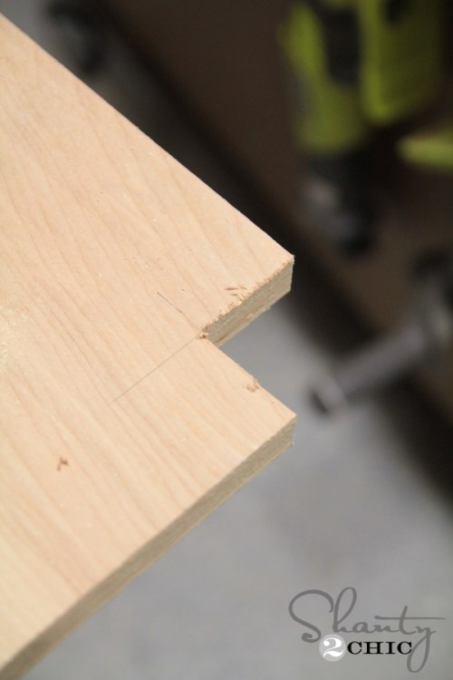 Cut corners of bench with jig saw