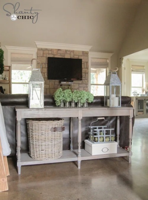 DIY Console Table Free Plans
