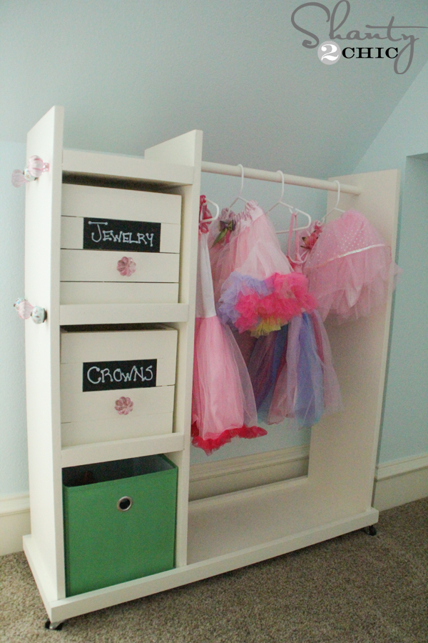 Free Woodworking Plans Diy Dress Up Cart Shanty 2 Chic