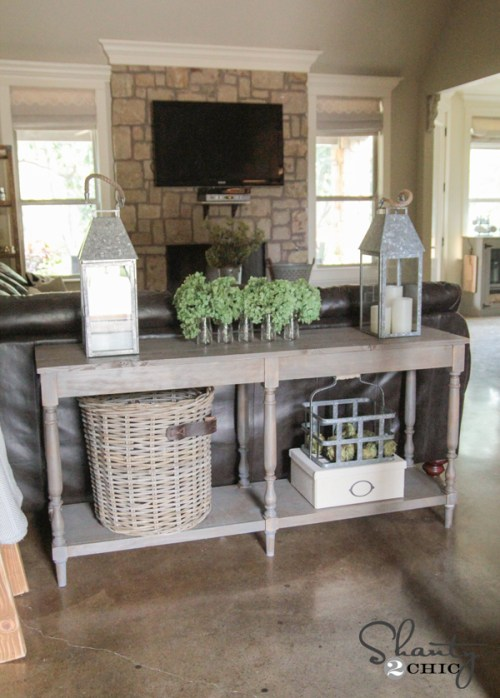 Free Woodworking Plans - DIY Console Table