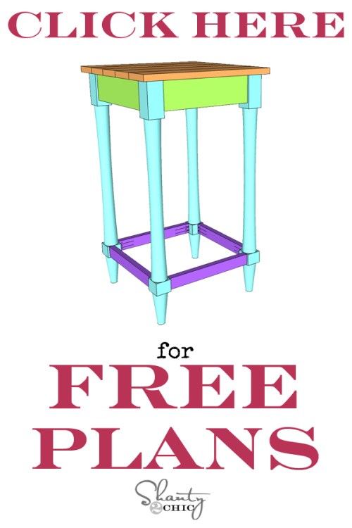 Free Printable Furniture Plans DIY Bar Stool