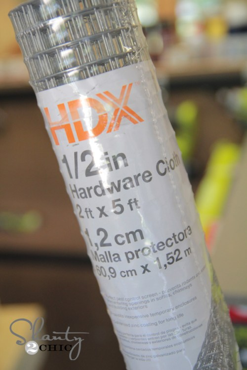 Hardware Cloth from Home Depot