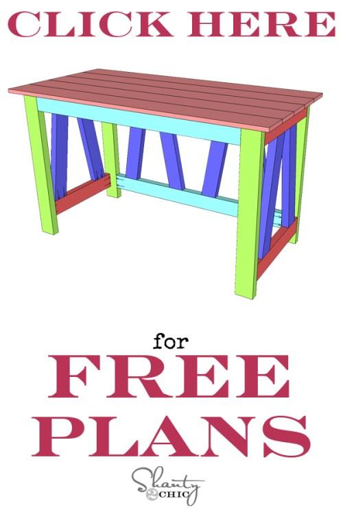 Free Woodworking Plans - DIY Desk