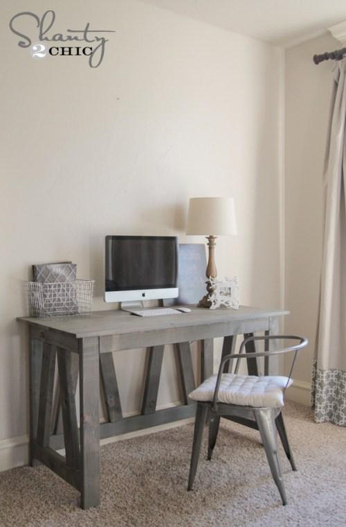 Free Woodworking Plans Rustic Truss Desk
