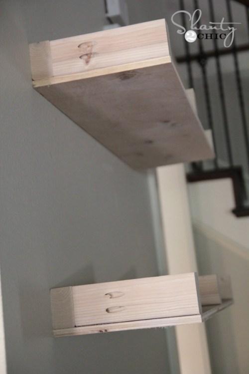 Side of floating shelf