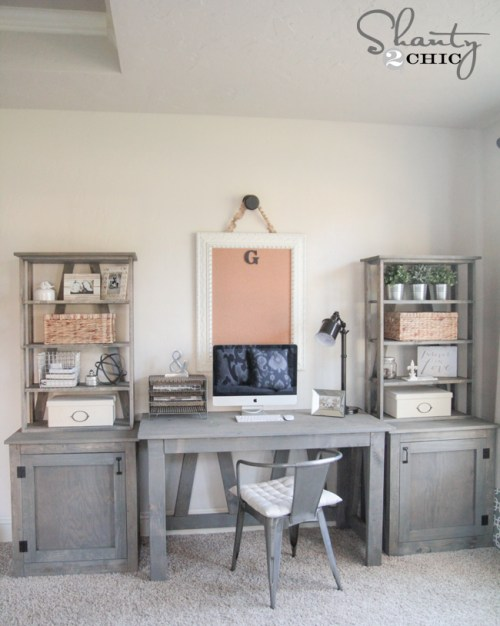DIY Desk - Free Woodworking Plans by Shanty2Chic
