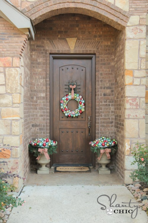 Front Porch Christmas Decor by Shanty2Chic