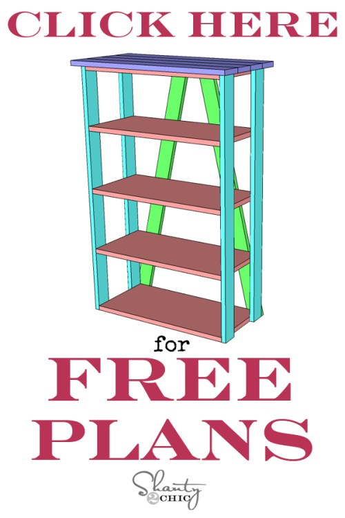 Print Free Plans - DIY Bookcase by Shanty2Chic